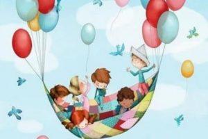 Barn flyger i filt