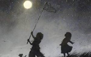 Barn försöker fånga månen