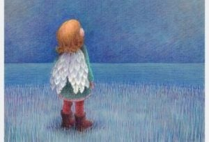 Flicka med vingar