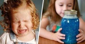 Lugna barn med glitter