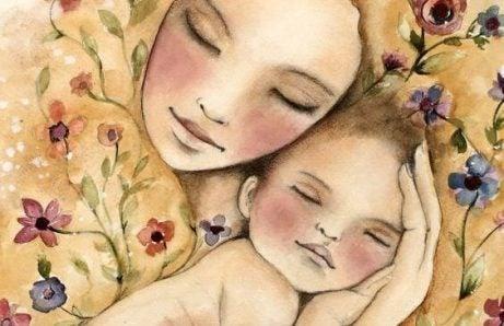 Min bebis sover bara i mina armar