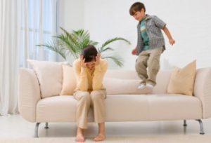 Stressad mamma