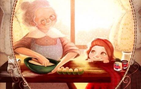 När en mormor ser sitt barnbarn för första gången