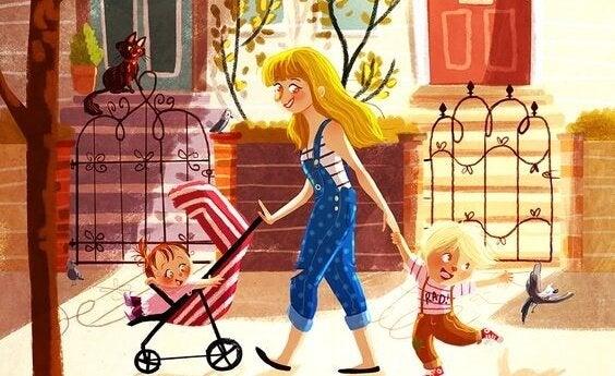 promenad med barn