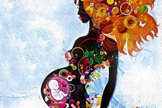 gravid kvinna