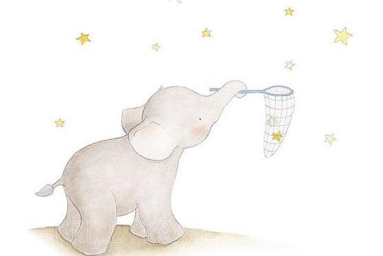 elefant fångar stjärnor