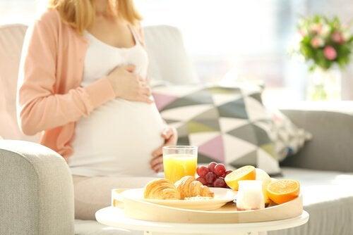 inte äta som gravid