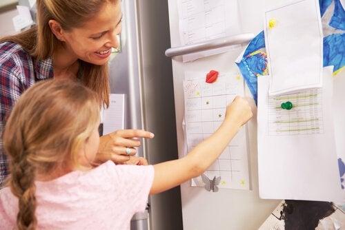 Schema på kylskåp