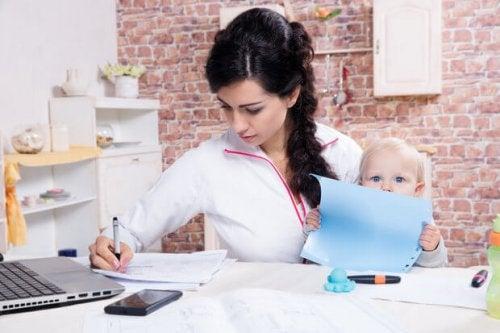Studerar med bebis
