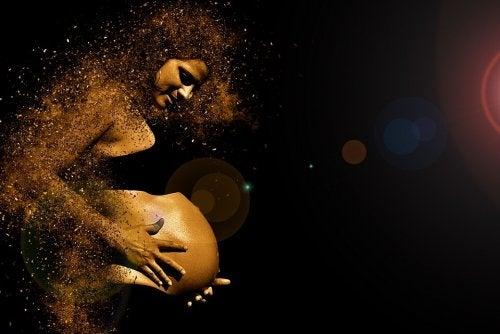 Artistisk bild av gravid kvinna.