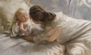 Mamma och bebis