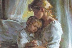 Mamma pussar dotter