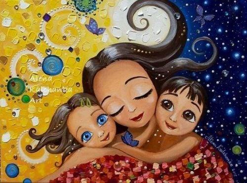 Att vara en tillgiven mamma skämmer inte bort ditt barn