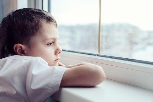 Pojke i fönster