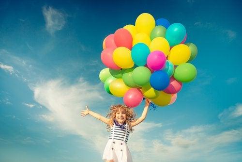 Flicka med ballonger