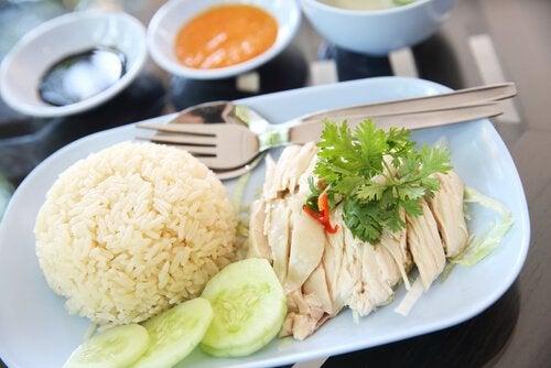 Ris och kyckling