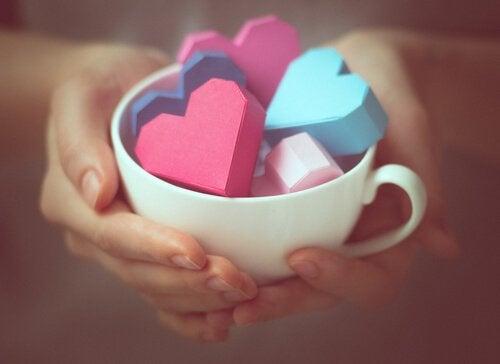 Hjärtan i olika färger