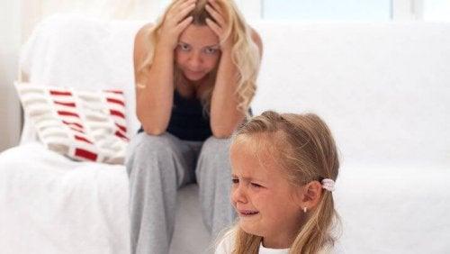 flicka får raseriutbrott