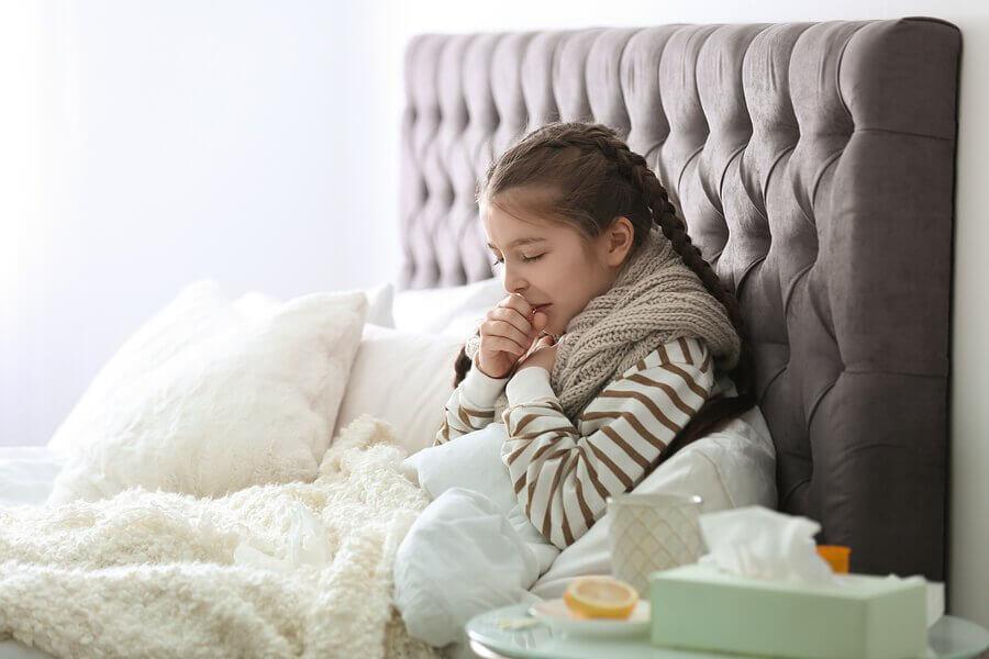 Att ha lätt för att bli sjuk under barndomen