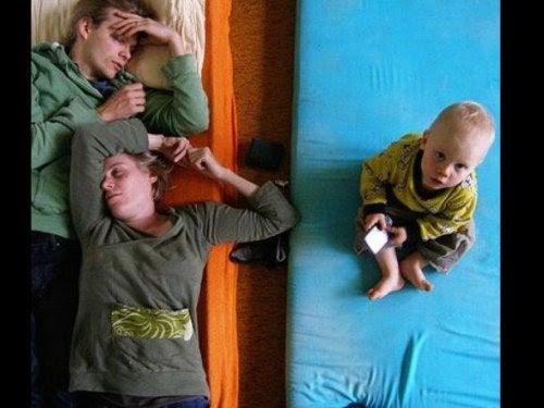 Föräldrar kämpar för att få tillräckligt med sömn