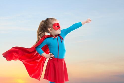 Batmaneffekten gör barn mer uthålliga.