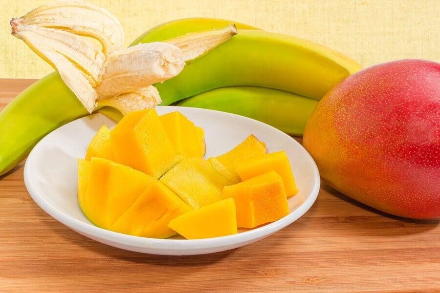Banan och mango kan bli supergoda puréer