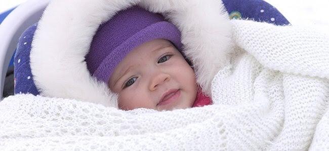 Vinterklädd bebis