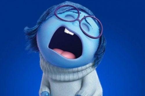 Ett barn som gråter.