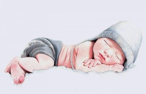illustration av nyfödd