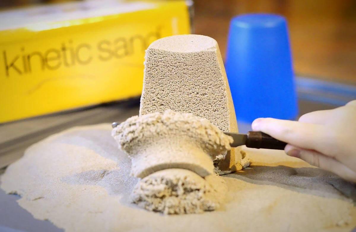 Sandkaka av magisk sand