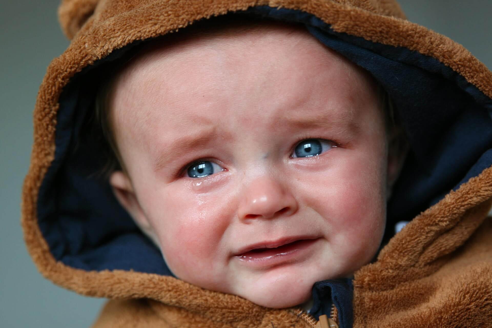 ledsen bebis