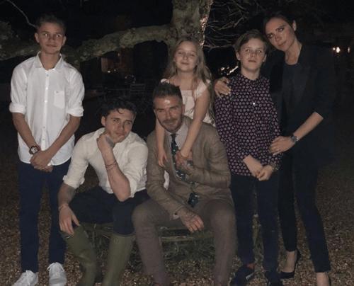 Beckham med familj