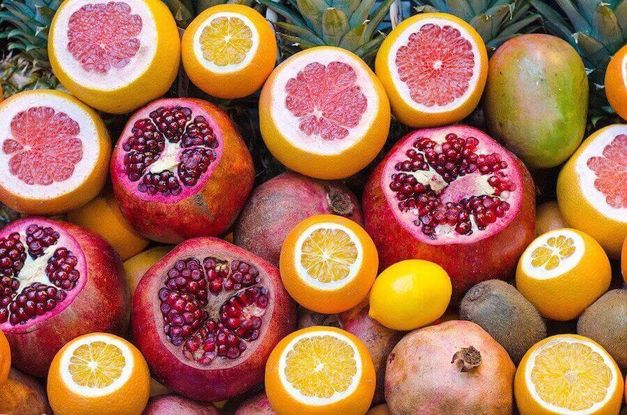ditt immunförsvar: citrusfrukter och granatäpplen