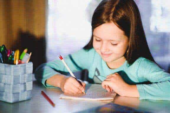5 övningar för att förbättra barns handstil