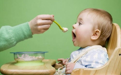 Mat som lindrar magknip hos barn
