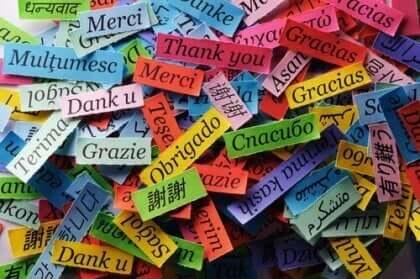 """Ordet """"tack"""" på olika språk."""
