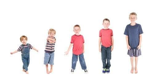 Mognadsutveckling hos barn: de olika stadierna