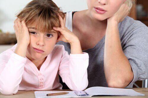 Barn som har svårt att lära sig.