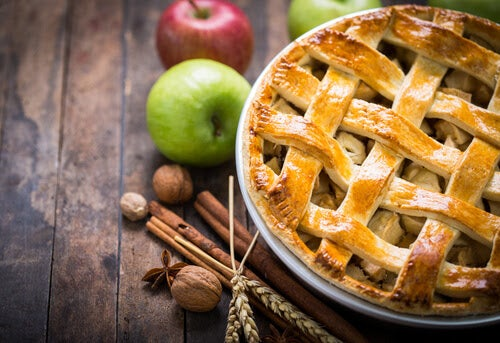 desserter för diabetiker: äppelpaj