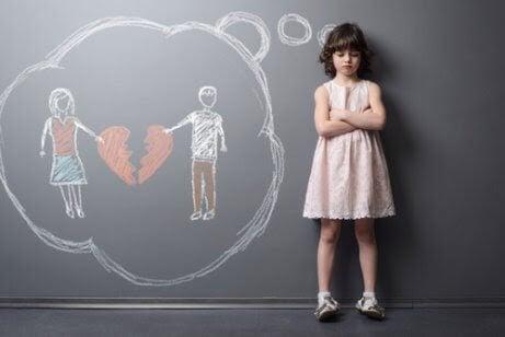 När en familj splittras och effekterna det har på barn