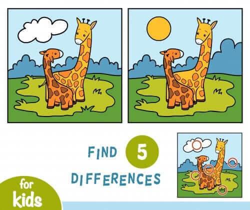 Finn Fem Fel med giraffer