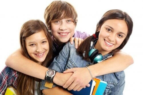 känslomässiga intelligens: tre tonåringar