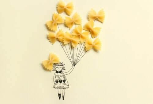 Kreativa pyssel med pasta för barn