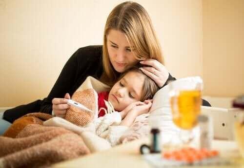 Paracetamol och ibuprofen används mot feber
