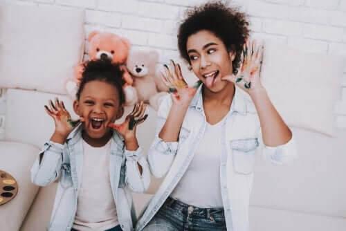 Barnflickans roll i att uppfostra barn