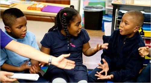 problemlösning: barn diskuterar