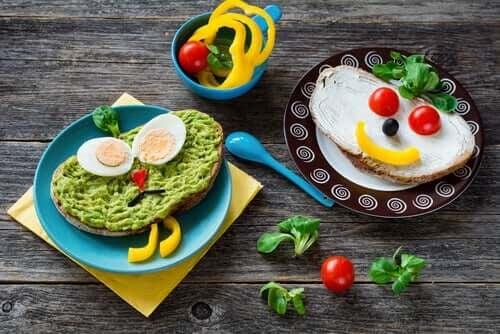 smörgåsar med grönsaker