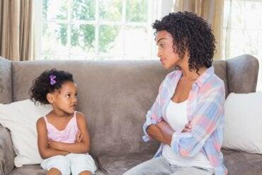 Var bestämd: Att sätta gränser för barnen