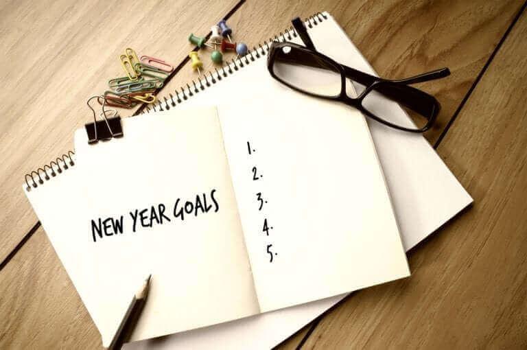 En lista med nyårslöften.