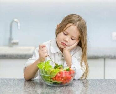 7 ursäkter barn använder när de inte vill äta